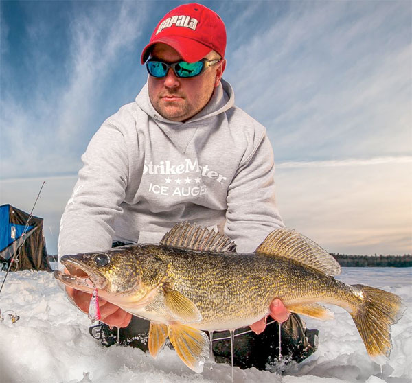 How to catch tough midwinter walleyes target walleye for Ice fishing walleye videos