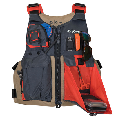 Onyx outdoors gear kayak fishing vest icast 2016 target walleye 160720