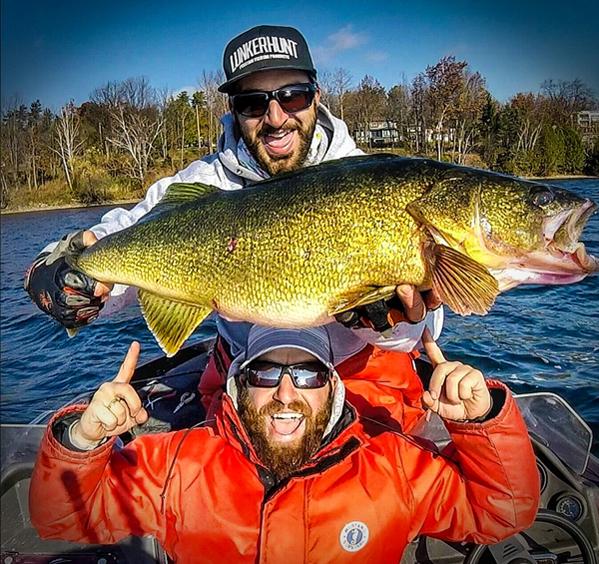 Ice target walleye for Lake simcoe fishing